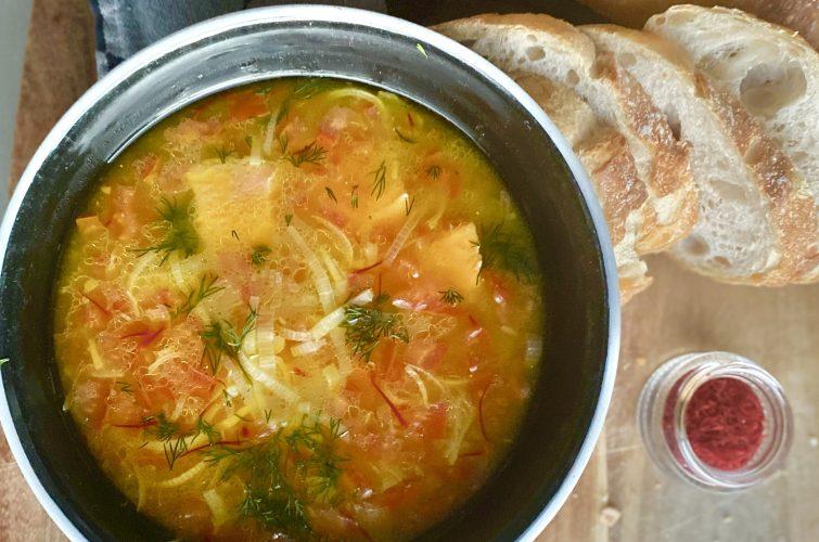 Award Winning Saffron – Fish Soup With Orange, Saffron and Dill