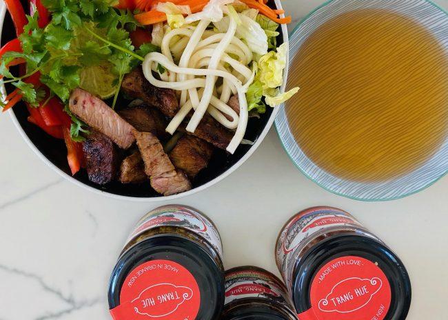 BBQ Pork Vietnamese Noodle Bowl Recipe
